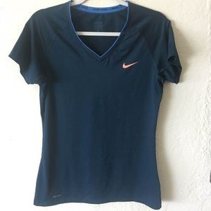 Nike Pro V Neck Tee Shirt Top Dri Fit
